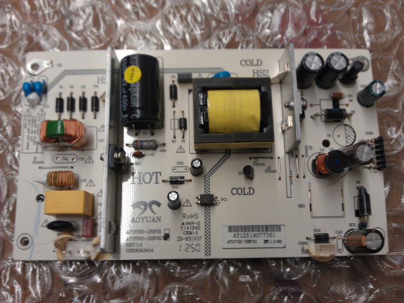 AY070D-2HF02 Power Supply Board From Seiki SE322FS LCD TV