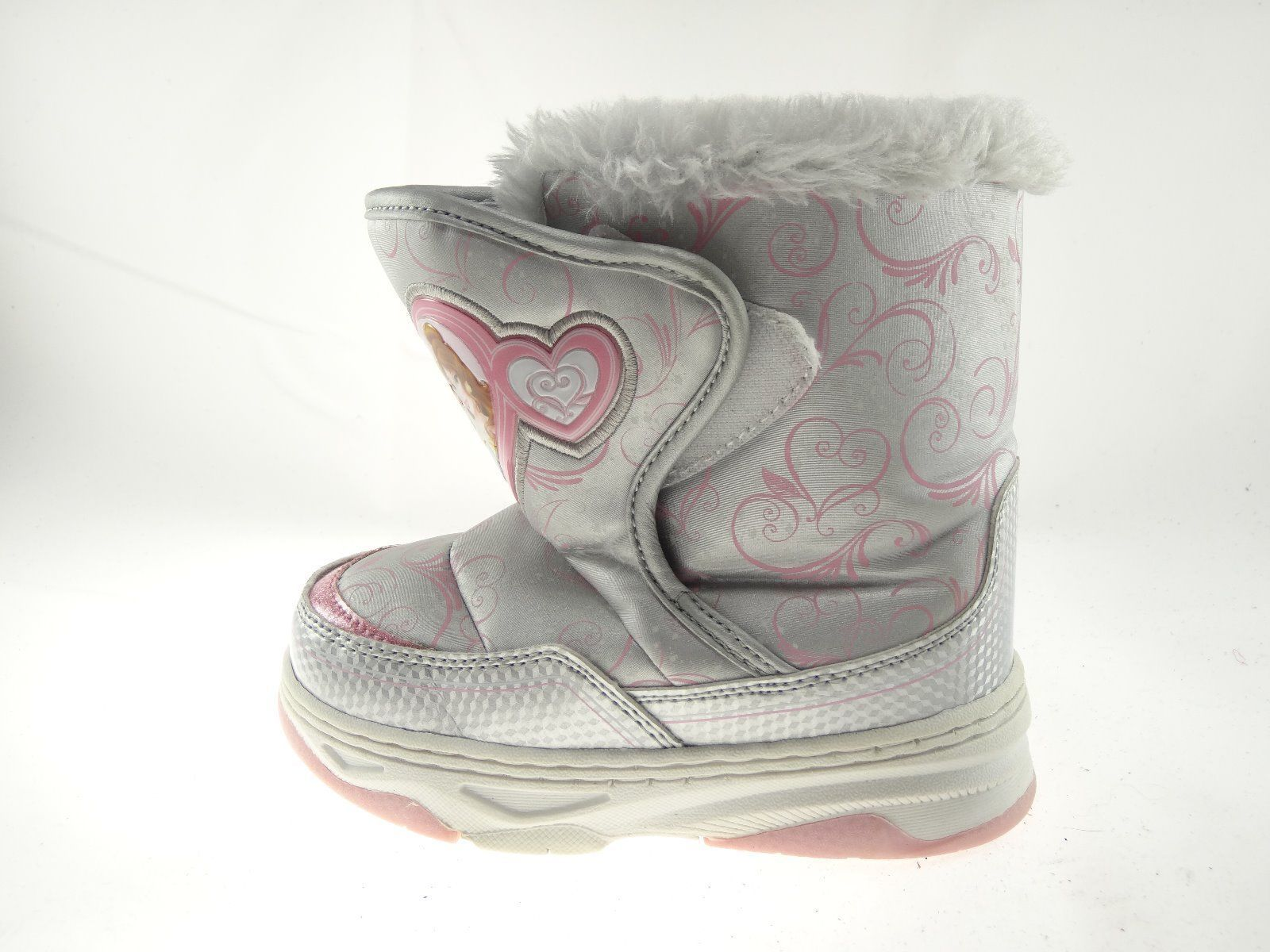 Disney Nala Silver Gray Size 9/10 Girls Princess Winter & Snow Boots image 3