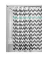 "InterDesign Chevron Shower Curtain - Gray/Aruba (72"" x 72"") - $18.99"