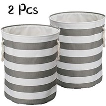 LinTimes 2 Pcs Large Laundry Baskets, Collapsible Laundry Hampers Bins, ... - $45.94
