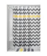 """InterDesign Chevron Shower Curtain - Gray/Yellow (72"""" x 72"""") - $18.99"""