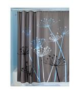 "InterDesign Thistle Shower Curtain - Gray/Blue (72"" x 72"") - $21.99"