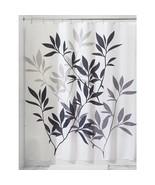 "InterDesign Leaves Shower Curtain - Black/Gray (72""x72"") - $21.99"