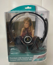 Logitech Premium USB 350 Black Headsets, Noise Cancellation & Microphone... - $39.99