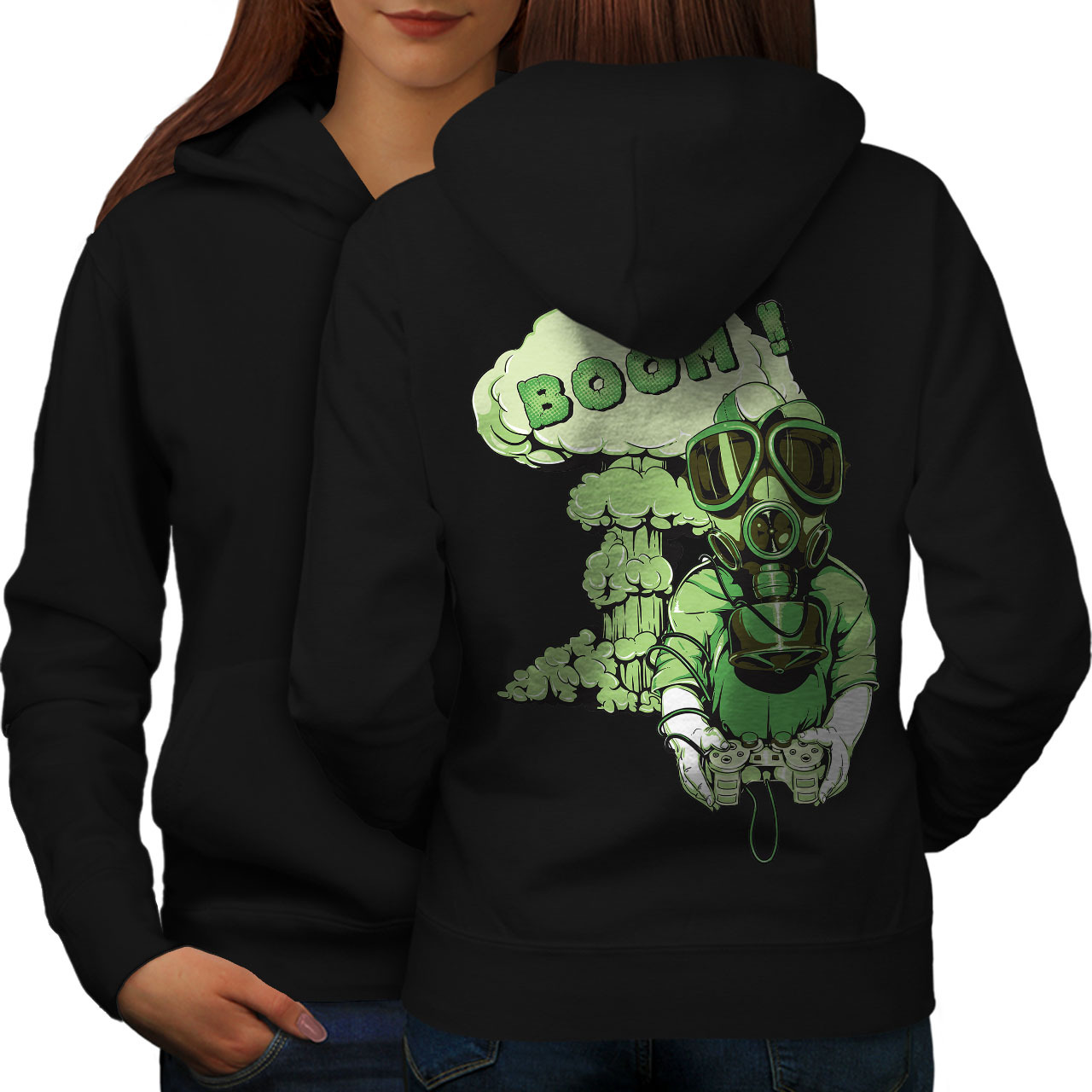 Primary image for Gaming Boom Toxic Geek Sweatshirt Hoody  Women Hoodie Back