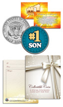 #1 SON Kennedy JFK Half Dollar U.S. Coin – GREAT GIFT YOUR SPECIAL SON - $8.95