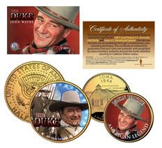 JOHN WAYNE Iowa Quarter & JFK Half Dollar U.S. 2-Coin Set *OFFICIALLY LI... - $12.95