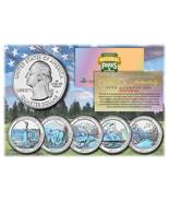 2011 America The Beautiful HOLOGRAM Quarters U.S. Parks 5-Coin Set w/Cap... - €10,56 EUR