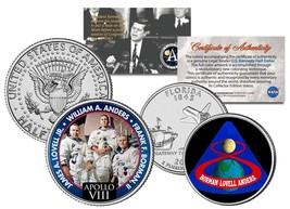APOLLO 8 SPACE MISSION 2-Coin Set U.S. Quarter & JFK Half Dollar NASA AS... - $12.95