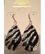 Amrita Singh Black Enamel and Crystal Tear Drop... - $18.00