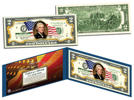 United States of America *Flowing Flag* Legal Tender $2 Bill COLORIZED C... - $13.95
