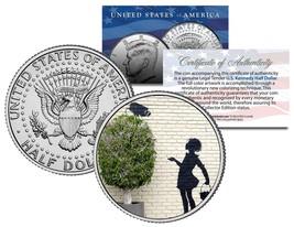 BANKSY * FLOWER GIRL * Colorized JFK Half Dollar U.S. Coin Art SECURITY ... - $8.95