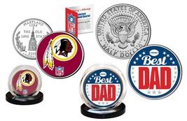 Best Dad - WASHINGTON REDSKINS 2-Coin Set Quarter & JFK Half Dollar NFL ... - $14.95