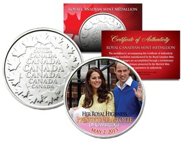 PRINCESS CHARLOTTE of Cambridge Royal Canadian Mint Medallion Coin Willi... - $8.95