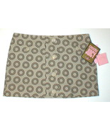 New Womens NWT $168 Juicy Couture Tan Circle Skirt L Mini Bryant Lined S... - $10.00