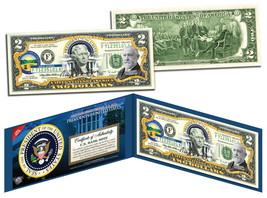 BENJAMIN HARRISON * 23rd U.S. President * Colorized $2 Bill Genuine Lega... - $13.95