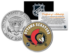 OTTAWA SENATORS NHL Hockey JFK Kennedy Half Dollar U.S. Coin * LICENSED * - $8.95