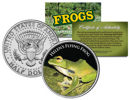 HELEN'S FLYING FROG Collectible Frogs JFK Kennedy Half Dollar US Coloriz... - $8.95