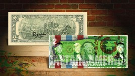 DEREK JETER CAPTAIN AMERICA GREEN Rency / Banksy Warhol Art $2 Bill Sign... - $29.00