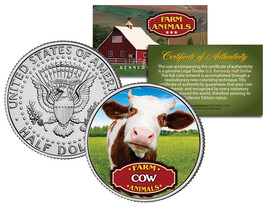 COW * Collectible Farm Animals * JFK Kennedy Half Dollar U.S. Colorized ... - $8.95