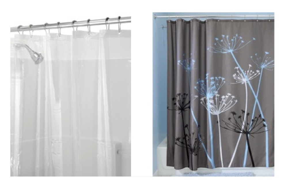 /& Curtain Rollerz InterDesign Set: Curved Shower Curtain Rod Set//12 41-72/""
