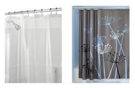 InterDesign Thistle Shower Curtain, Gray/Blue & Shower Curtain Liner, 72... - $24.99