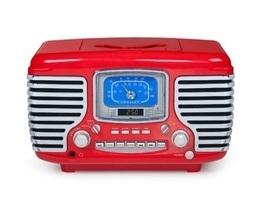 Vintage CD Radio Alarm Clock RED 1950' 60's Novelty Accent Old Led Stere... - $138.99