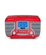 Vintage CD Radio Alarm Clock RED 1950' 60's Novelty Accent Old Led Stere... - $138.99