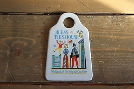 Vintage Funny Bless This House ceramic Cheese grader wall hanging - $14.85