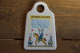 Vintage Funny Weight Loss Ceramic Wall Hanging 5.25 x 3.5 inches - $14.85