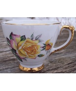 Delphine Bone China England Pink and Yellow Rose Teacup (only) Mint Cond... - $12.00