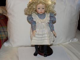 Vintage Dianna Effner Porcelain Doll Blonde w/ Curls Hand Numbered #5430FB - $99.99