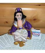 "Disney Handsome Aladdin Plush Beans 10"" in Ivory Purple & Gold Sateen Ou... - $6.29"
