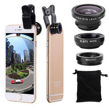 3 in 1 Clip On Camera Lens Fisheye, Wide Angle, Macro For All Phones - B... - $15.99