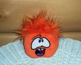 Disney Club Penguin Plush Orange Puffle Shows Tongue & Teeth - Wants Fun... - $5.95