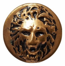 Vintage Brass Metal Button Lion Head Victorian ... - $12.95