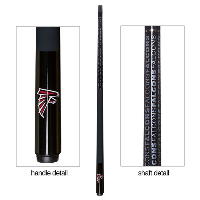 ATLANTA FALCONS NFL TEAM BILLIARD GAME POOL TABLE CUE STICK with FREE CASE