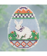 CLEARANCE Bunny Egg Spring Bouquet 2013 collection beaded ornament kit M... - $5.25
