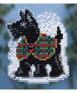 CLEARANCE Scottie Winter Holiday 2014 ornament pin kit cross stitch Mill... - $4.50