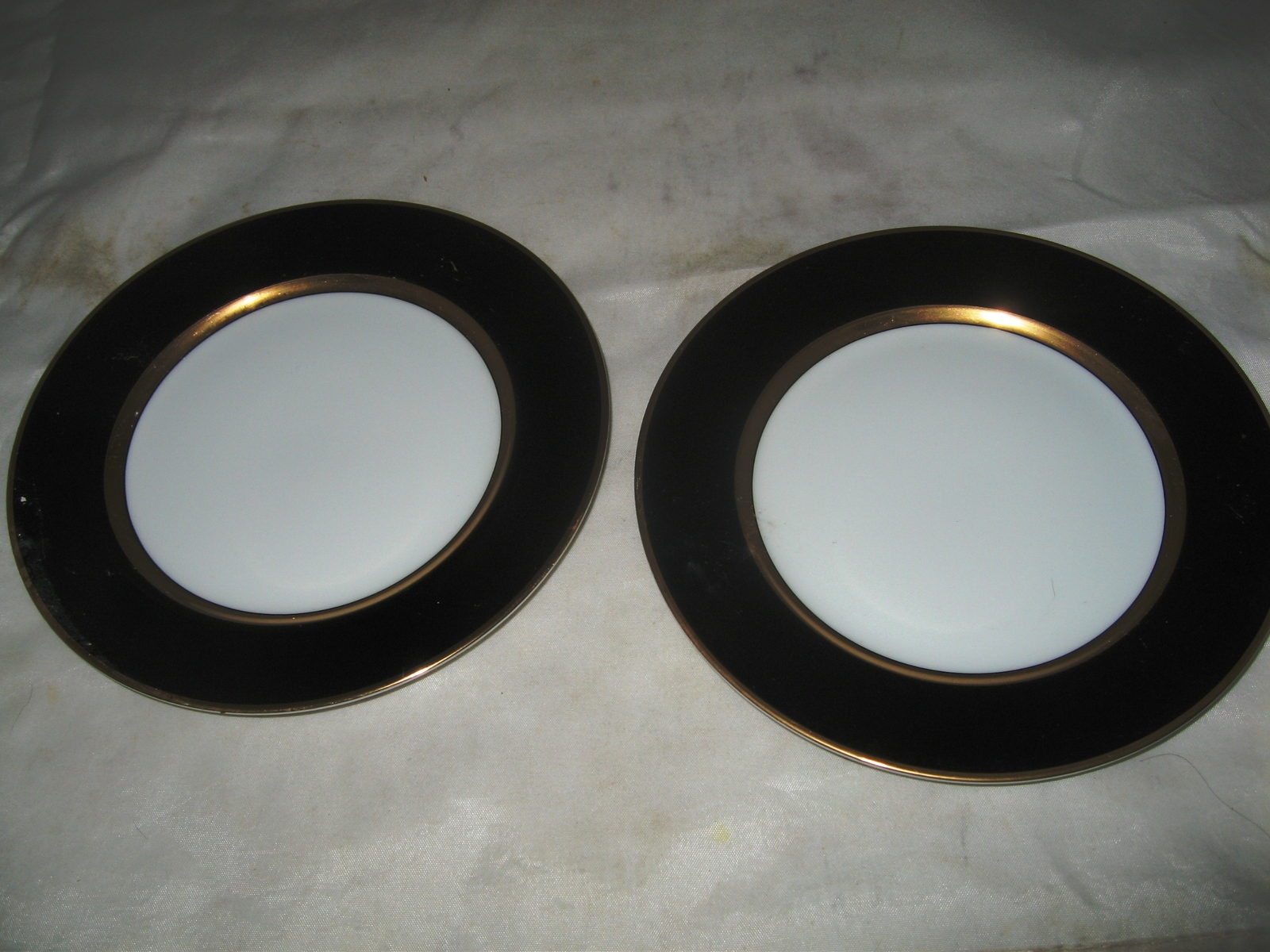 "Primary image for (2) Fitz & Floyd ""Renaissance"" Black on White Bread Plates"