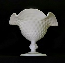 Imperial Doeskin Hobnail Milk Glass Footed Compote Pedestal Candy Dish - $24.00