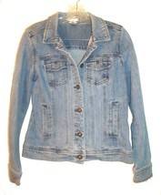 Sz S - Christopher & Banks Blue Jean Denim Jacket w/4 Front Pockets - $33.24