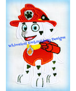 Marshall Paw Patrol Machine Embroidery Applique - $4.00