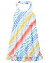 Gymboree Tropical Breeze Rainbow Striped Midi Halter Dress Knit NWT 7 8 10 - $12.99