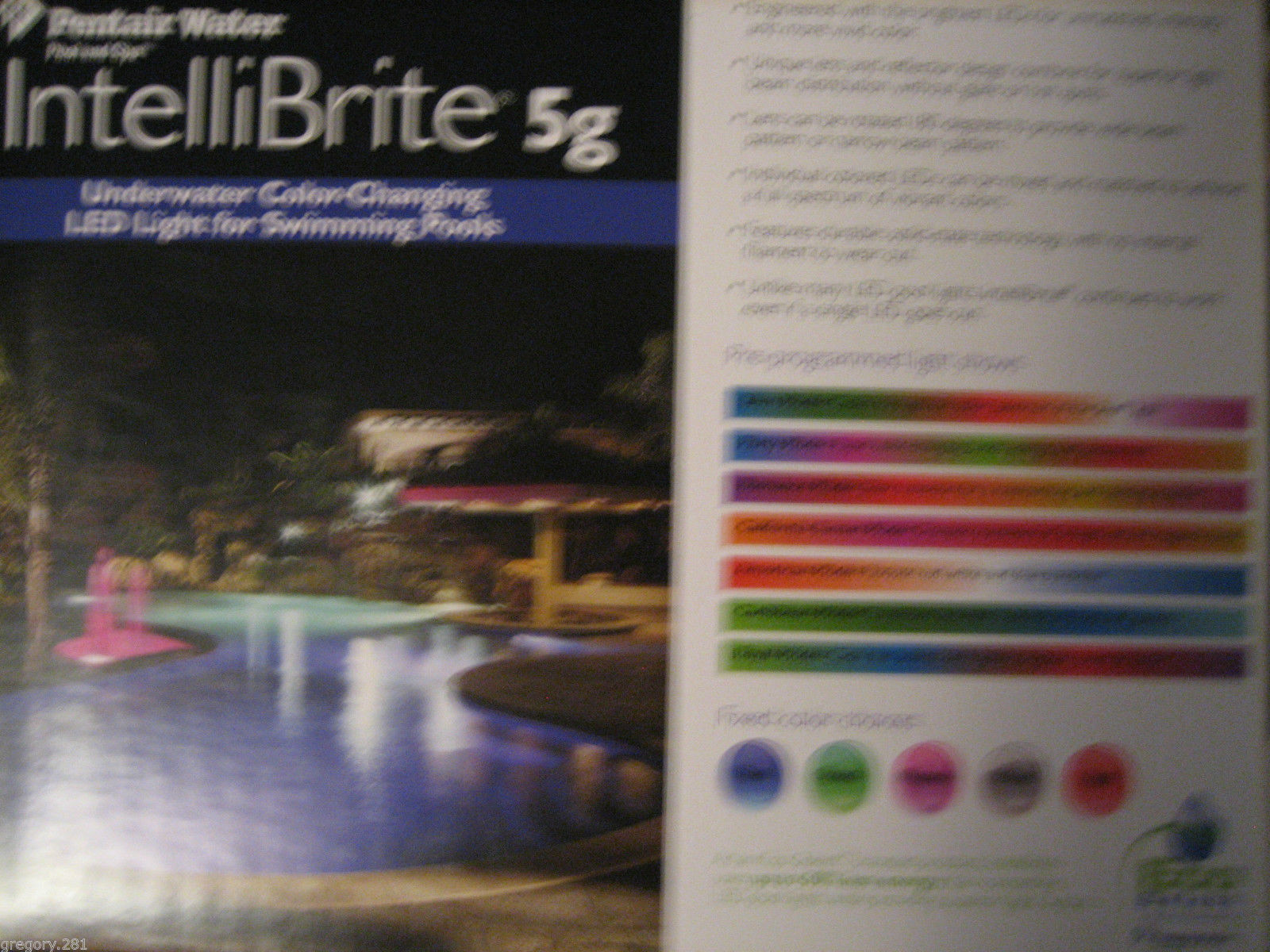Pentair 601002 Intellibrite 5g 120v 100 39 Led Color Changing Pool Light Other Pool Equipment