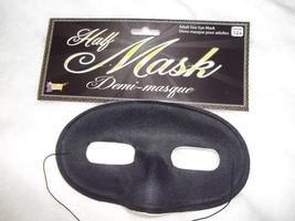 Eye Mask Black Adult Men's Or Womans Mardi Fabric   Free Shipping - $5.95