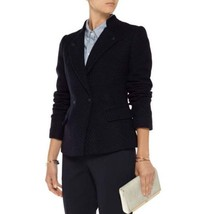Vince VX21190663 Womens Navy Wool Lined Slim Fit Suit Jacket Blazer Coat 8 - $199.99