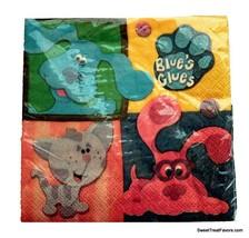 Blues Clues party Decoration birthday Napkins Cake paper Favors Squares Dog x16 - $12.82
