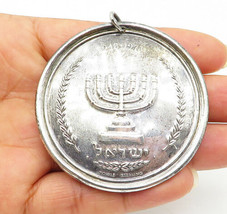 TOWLE 925 Silver - Vintage Star Of David & Menorah Two-Sided Pendant - P... - $68.36