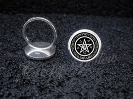 925 Sterling Silver Adjustable Ring Wicca Pentagram Spirit Earth Fire Ai... - $39.00